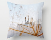 pale blue accent pillow. photo pillow cover. sky blue decorative pillow. surreal photography throw pillow cover. dreamy industrial decor.