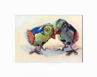 Love Birds  5x7  Limited edition matted print