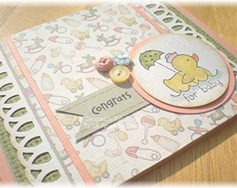 Duckling Themed New Baby Congratulations Card