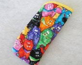 Quilted Sunglass/Eyeglass case - Colorful fuzzy cats