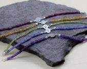 Gemstone Pawprint Bracelet - gemstone, sterling silver, pawprint charm