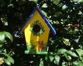 Handpainted Birdhouse - Small - Yellow