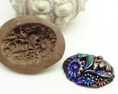 Floral Cabochon Mold - Polymer Clay