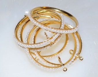 Gold Pearl Hoops (10) ON SALE