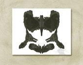Rorschach Inkblot Art print no 33