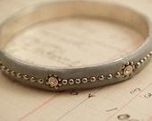 Silver Grey Studded Bangle Bracelet to Benefit Heart Strings