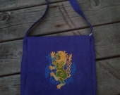 Heraldic Bag, Knotwork, Viking Bag , Celtic,Lion, Messenger Bag, SCA Bag, Dagorhir Bag, Amtgard, Belegarth, LARP, Fantasy,Haversack, Pouch