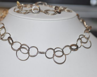 Sterling Silver Oxidized Chain with Multiple Links
