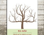 Fingerprint Tree Teacher Gift Print - Digital File - Customize with Teacher Name, School, Year, and Quote