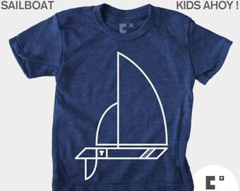 Kids TShirt, Sailboat, Boys TShirt, Girls TShirt, Baby Boy Clothes, Baby Girl Clothes, Sailing, Nautical, Blue, Toddler Shirt, Kids T-Shirt