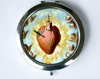 Sacred Heart Compact Mirror Pocket Mirror religious catholic