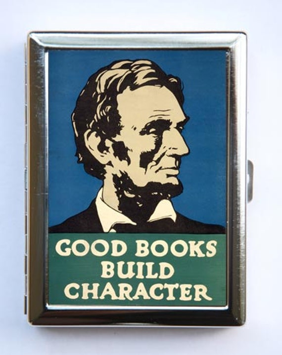 Books Build Character Business Card Holder