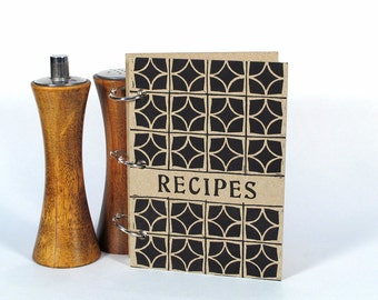 Blank Recipe Book - Decorative Blocks (4 in x 6 in) - Size No.1