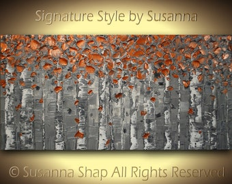 Painting heavy textured modern palette knife painting by susanna 48x24