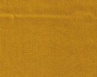 HALF YARD Kokka - Echino Solid Mustard Yellow JG-95410-10E - Japanese Import Fabric