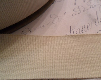 Organic Cotton  Natural Woven 7/8 inches wide