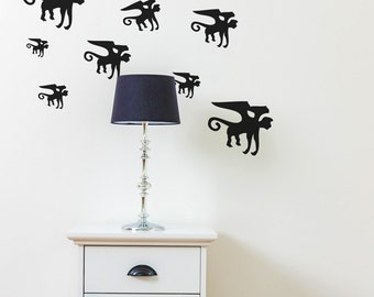 Flying Monkey Wall Decals - wd1035