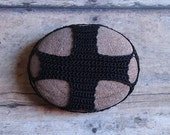 Cross, Crochet Lace Stone, Home Decor, Collectibles, Original, Handmade, Table Decorations