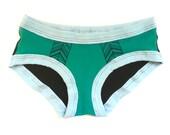 Green Quill Undies - Handmade Underwear