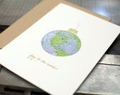 Joy to the World Letterpress Holiday Cards