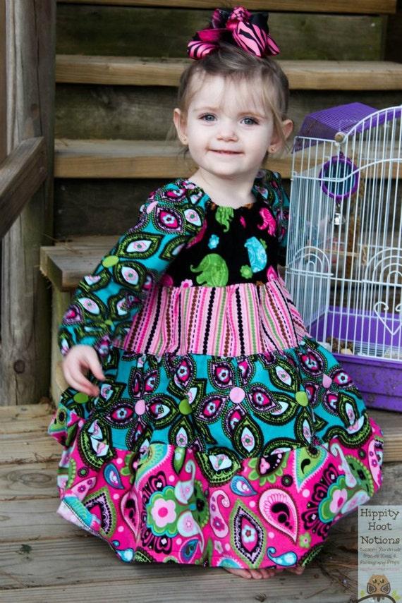 PDF Sewing Pattern - Tiered Peasant Twirl Dress Pattern ...