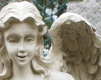 Angel face angel wings cemetery statue stock photo image free use