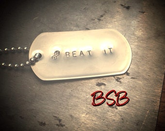 Cancer awareness dog tag necklace free shipping
