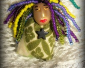 Tiny Miniature Spirit Doll Infused with Aromatic Oils