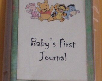 Baby's Journal Moleskine ruled Notebook Babys First Journal Pooh babies