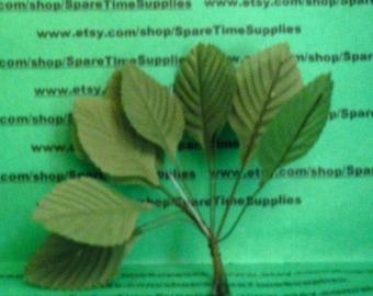"""Darice - 02SL17 small blossom leaf green - 1 1/2"""" plus stem - 12pcs"""