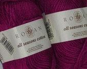 Yarn Clearance - Rowan All Seasons Cotton Yarn (6 skeins)