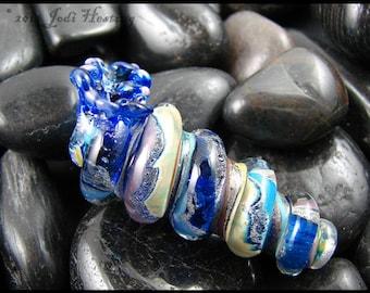 Beadworx - Lampwork Glass Focal Bead - Seashell - Belize