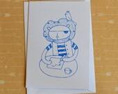 Pirate Lion - Screenprinted Card