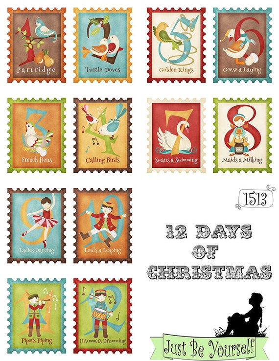 Ambitious image pertaining to 12 days of christmas images printable