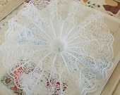 Vintage / Kitschy Plastic Bouquet Holders / Eight Inch Diameter / Bridal Shower / Party Favors / Six Items / String Light Covers