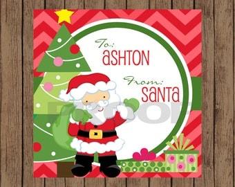 Santa Claus Favor Tag / Santa Favor Tag / Santa Gift Tags / Gift From Santa Tags / Santa Tag / Christmas Tags /Christmas Gift Tag /PRINTABLE