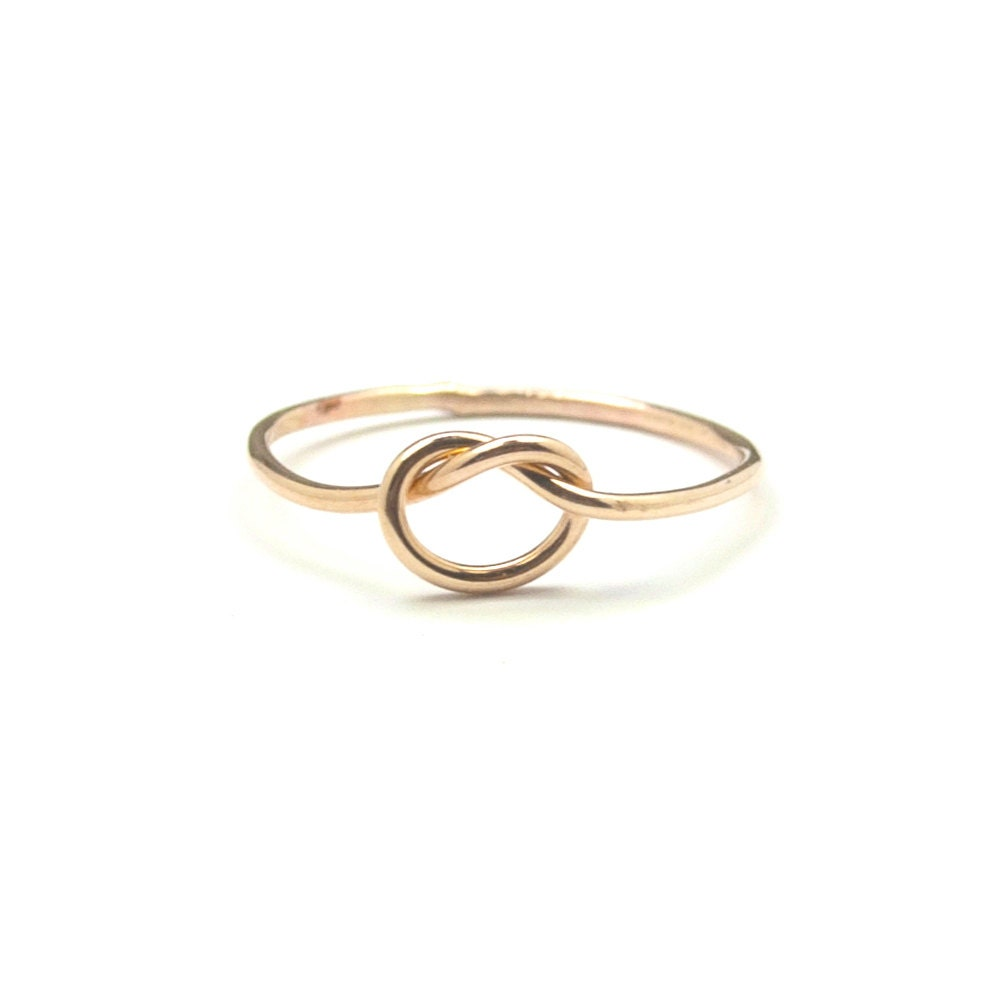simple knot stacking ring engagement band recycled metal