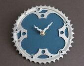 bicycle clock - teal blue