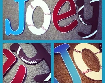 SALE on sports Wooden Wall Letters - Sports, Football,Baseball