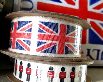 GB Ribbon Reels x2 minireels soldiers are 4metres and Union Jack is 3metres