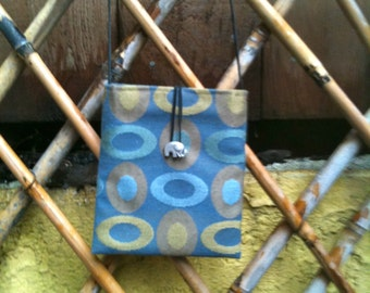 Blue Ovals Mini Shoulder Bag