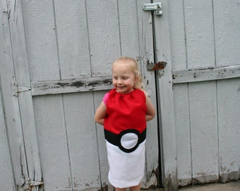 Childrens Pokemon Pokeball inspired costume Custom size