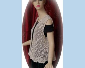Summer Romance Filet Vest