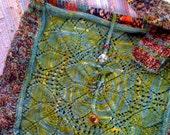 Vintage Kilim and Lace Knit Satchel