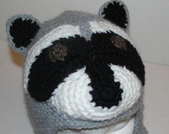Racoon Crochet Hat Pattern PDF