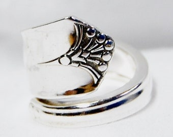Silver Spoon Ring, Serenity, Name your size 8.5 to 12