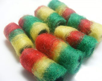 Fiber Bead Dread  We aren't braided like the other Rasta beads, but we have these wide stripes going on. Buy us instead.