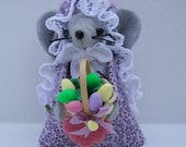 Dorrie-Part of the Easter Mouse Collection of felt mice by Warmth