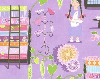 "Michael Miller Fabrics, ""Quiet Time"",  Princess and the Pea in Lavender, yard"