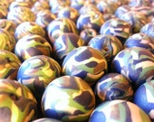 Camouflage Beads -4- Polymer Clay arts